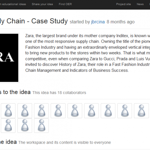 OERs for international management – Case studies co-created by learners & educators on the Idea Space platform
